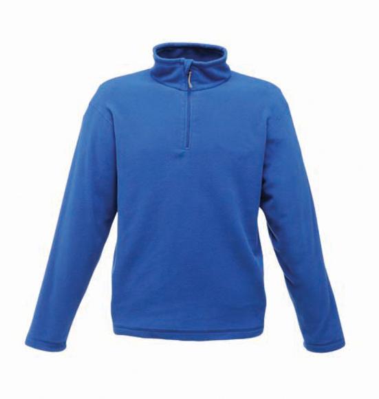 Zip-neck Microfleece in blue with 1/4 zip