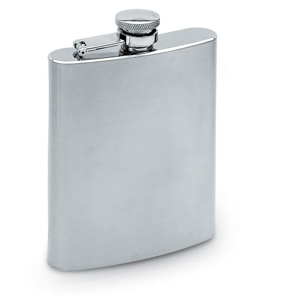 Slimmy Flask in matt silver with satin finish