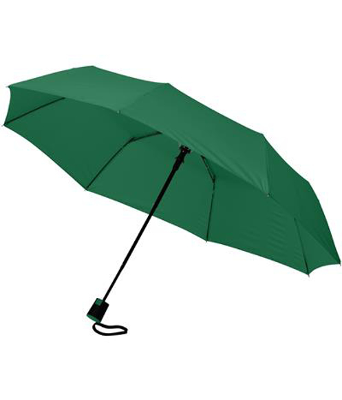 """21"""" foldable auto open umbrella in green"""