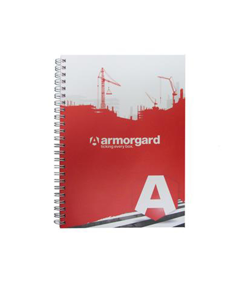 A5 wire bound notebook with full colour print