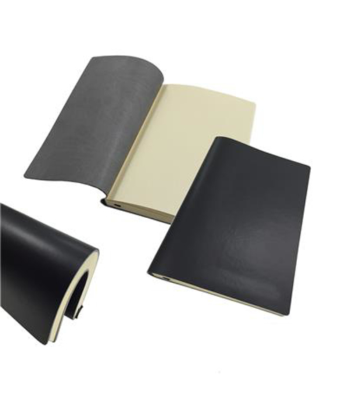 A5 flexi notebook in black with lined pages and flexible cover and pages