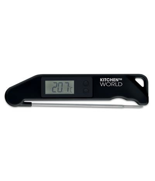 Check It BBQ Thermometer in black with 1 colour print logo