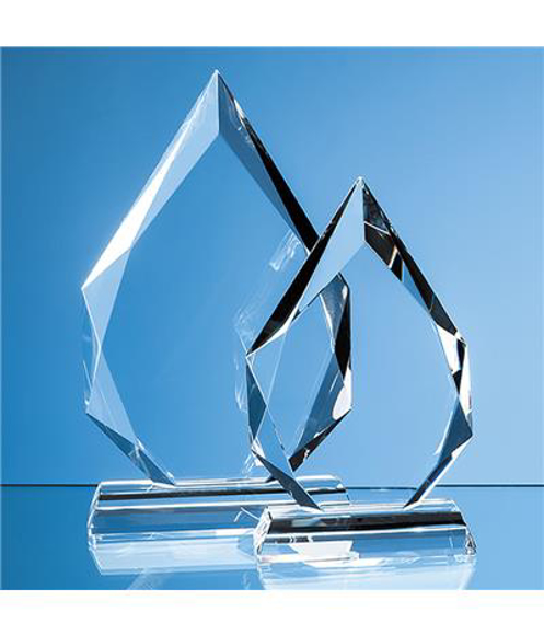 Clear Glass Facetted Diamond Peak Award