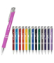 a soft touch metal ball pen in a variety of colours