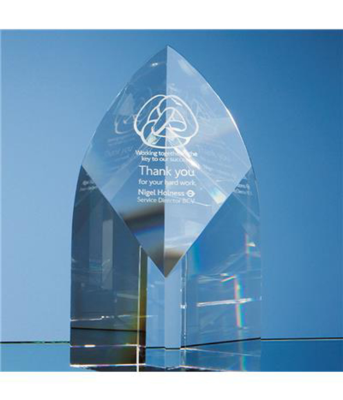 Crystal Arch Award with engraving