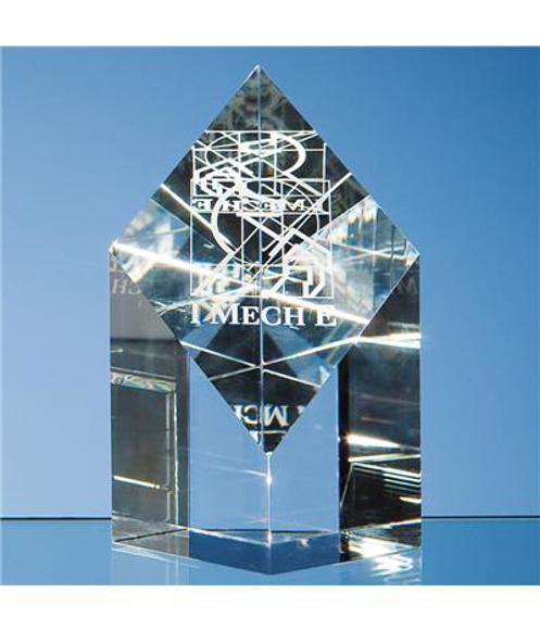 Crystal Diamond Award with engraving