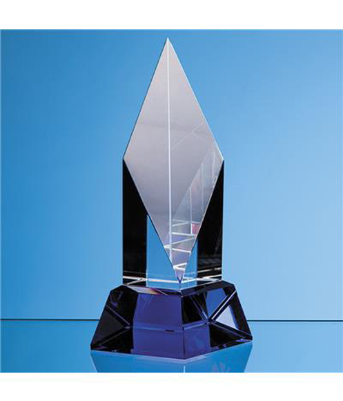 Crystal Diamond Mounted on a Cobalt Blue Base