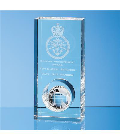 Crystal Globe in the Hole Award with engraving