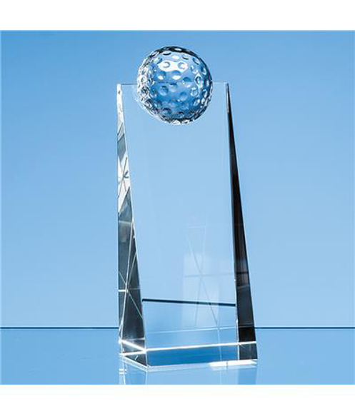 Crystal Golf Ball Wedge Award