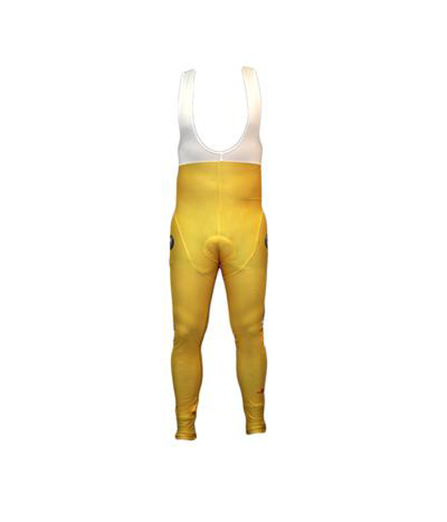 Cycle Bib Trousers in white and yellow