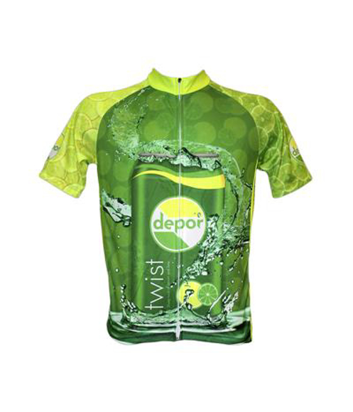 Cycle Jersey  in green with full colour print