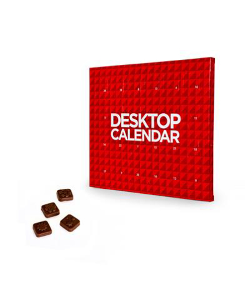 Personalised desktop sized advent calendar printed to advertise your company