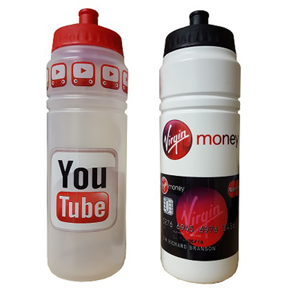 2 Energize Sports bottles with a full colour corporate wrap design
