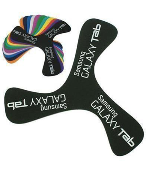 Foam Boomerang in a variety of colours with 1  colour print