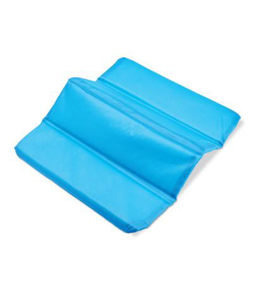 Folding Seat Mat in blue opened out
