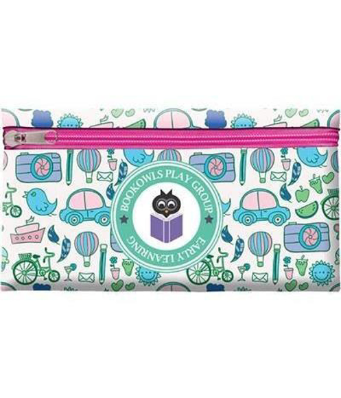 Full Colour Pencil Case in white with digital print