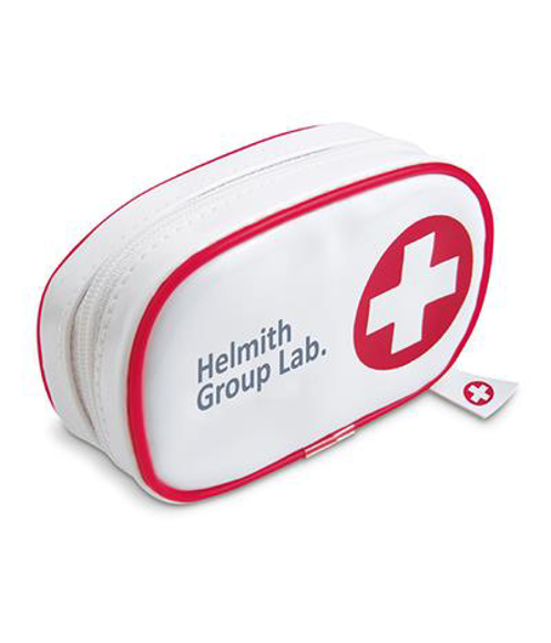 white Gil first aid kit pouch with red cross