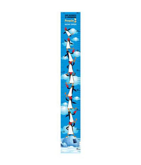 blue penguin design height chart