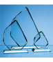 Jade Glass Facetted Ice Peak Award in different sizes
