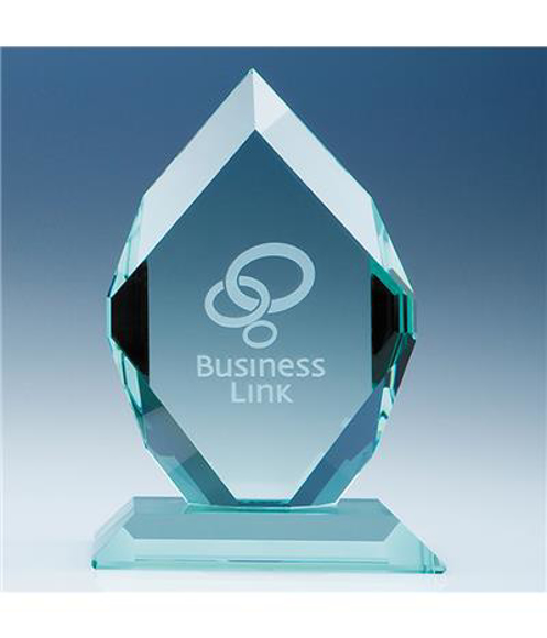Jade Glass Royal Diamond Award with engraving