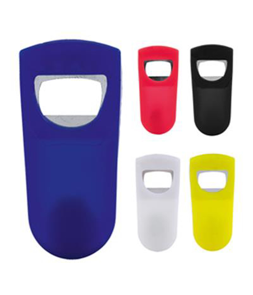 kyo bottle opener in blue, red, black, white and yellow