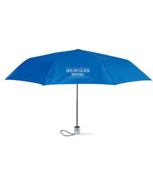Lady Mini Umbrella in blue with 1 colour print logo
