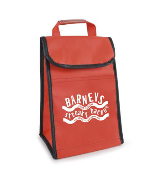Lawson Cooler Bag in red with 1 colour print logo