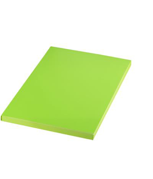 A5 match notebook in green with matching coloured page edges