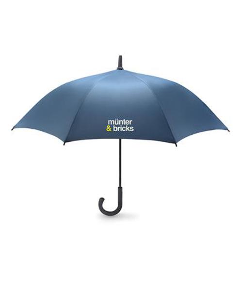 New Quay Umbrella in blue with 1 colour print logo