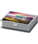 Office note desktop set in silver with 105 white sheets and full colour print on top of lid