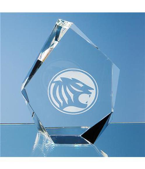 Optical Crystal Facet Iceberg Award with engraving