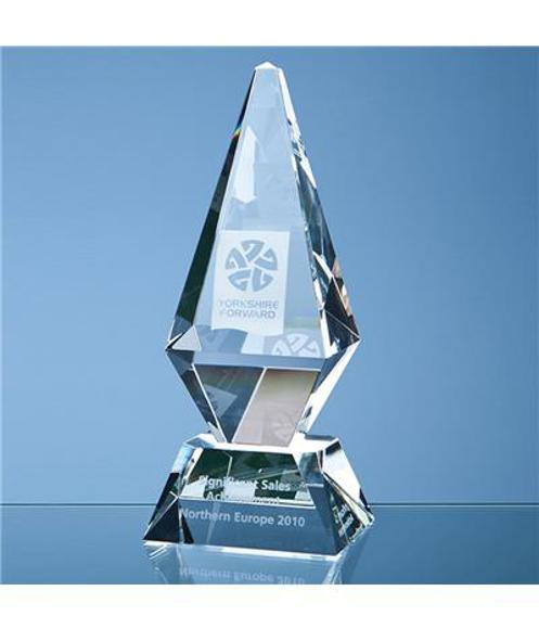 Optical Crystal Glacier Award with engraving