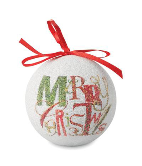 Pearl Christmas Bauble with full colour