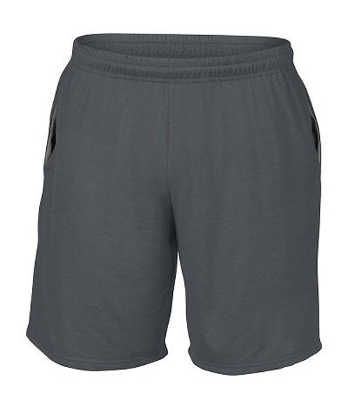 stone grey performance mens shorts with pockets