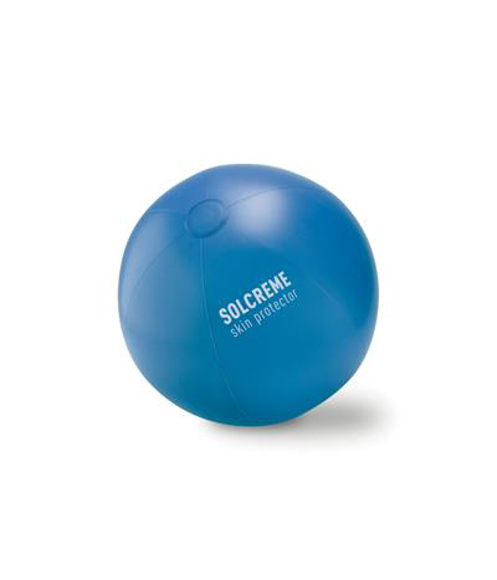 Play Large Beach Ball in blue with 1 colour print logo