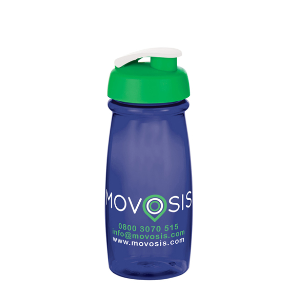 Small sports bottle with flip lid