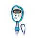 blue record pedometer stopwatch with 2 colour logo