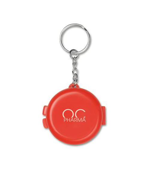 rescue me cpr mask i n red case with keyring and logo