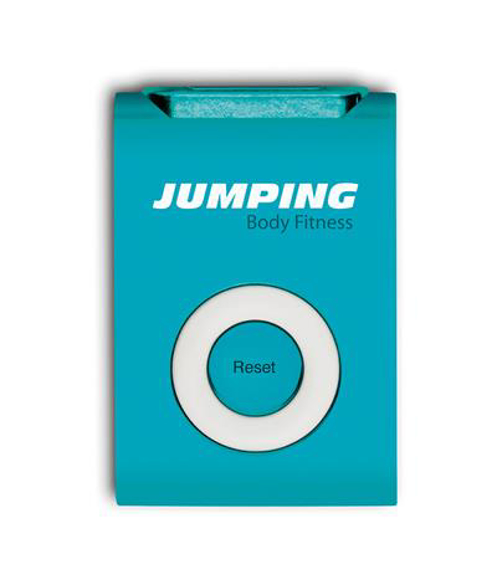 blue runners pedometer with 2 colour branding