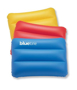 Siesta Beach Pillow in yellow, red and blue