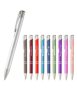 a group picture of shiny metal sinatra pens in different colours