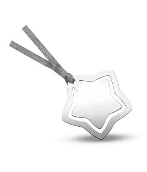 Star Shape Bookmark in silver