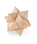 a wooden star shaped brain teaser toy