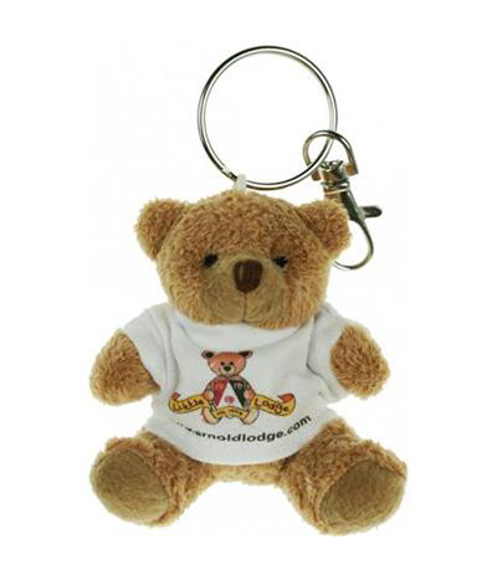 Teddy bear keyring with branded tshirt
