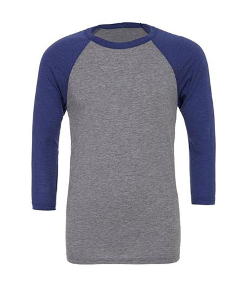 Picture of Unisex Triblend Baseball T-Shirt