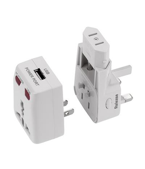 USB Travel Plug in white