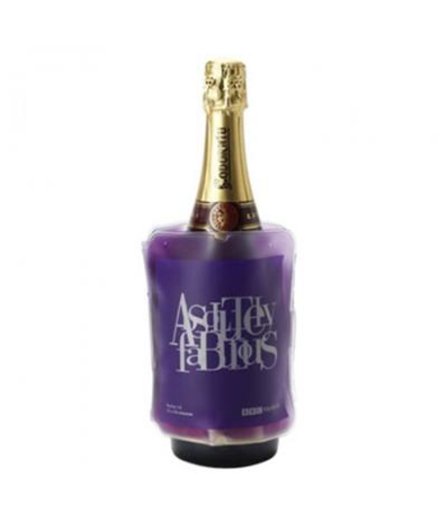 Wine Sleeve Cooler in purple with 1 colour print