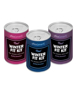 Winter Fit Kit cans in pink, blue and purple