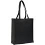 Long handled canvas shopper bag in black