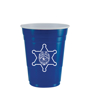 blue american style party cups